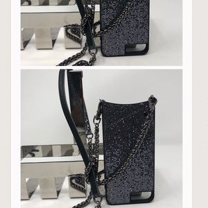 Bandolier Mia Shimmer Black Metallic iPhone Case